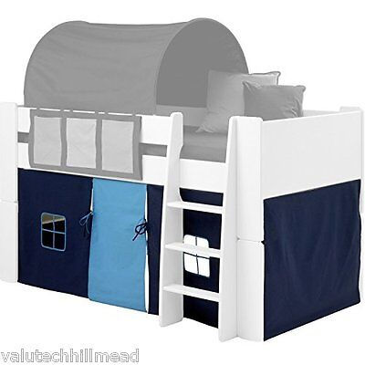 Dynamic24 Kids Curtain for Bunk Bed, Dark/Light Blue UNDERBED CURTAIN ONLY