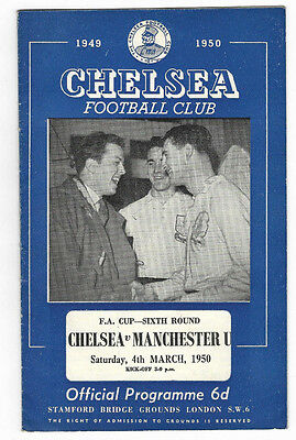1949/50 FA Cup 6th Round - CHELSEA v. MANCHESTER UNITED