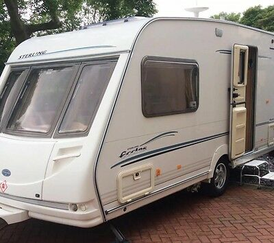Used Sterling 2 berth touring caravan With Power Wheels