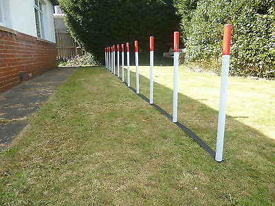 Johnsagility dog agility weave poles,training obedience + webbing spacer or fun.