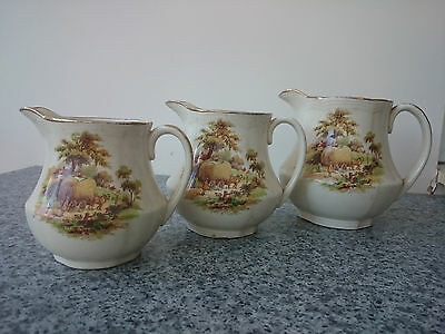 Set of 3 Alfred Meakin Jugs - The Hay Ride