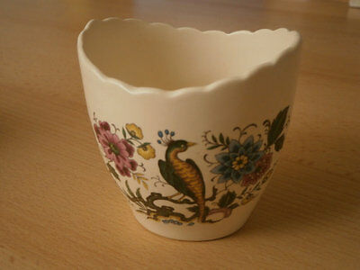 VINTAGE PURBECK POTTERY SMALL POT - Bird of Paradise