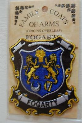 FOGARTY Embroidered PATCH Coat of Arms Family Crest - Sew or Iron On
