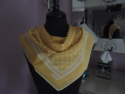 Vintage Silk Scarf by Jaeger hand stitched