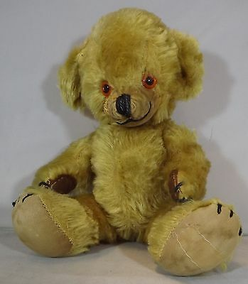 """VINTAGE 1950s/60s 11"""" MERRYTHOUGHT MOHAIR CHEEKY TEDDY BEAR BELLS IN EARS"""