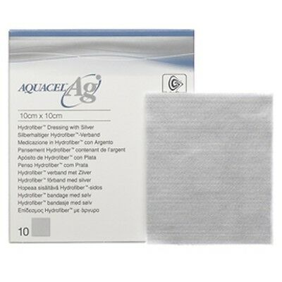 Aquacel AG Silver Wound Dressing (various sizes & packs of 5 or 10)