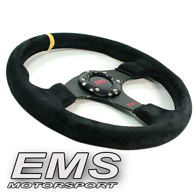 EMS Motorsport Wildleder Sportlenkrad flach 350 mm