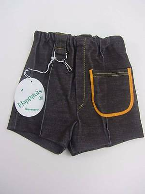 Vintage childrens shorts baby vintage brown 60's 70's age 1 NWT's
