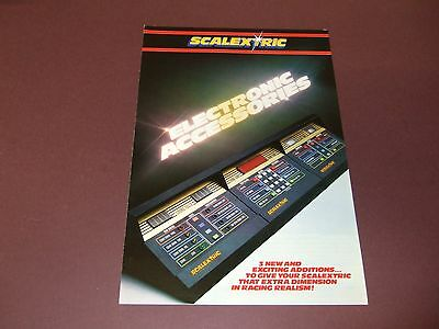 Scalextric Electronic Accessories Leaflet