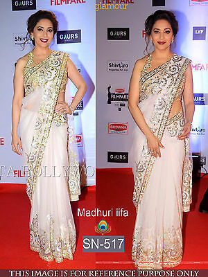 Indian Designer Bollywood Madhuri iffa Sari Asian Wedding Party Wear Sari