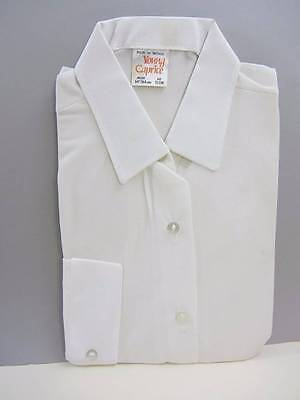 Vintage girls shirts white long sleeved ages 13-14 70's NWT's costume