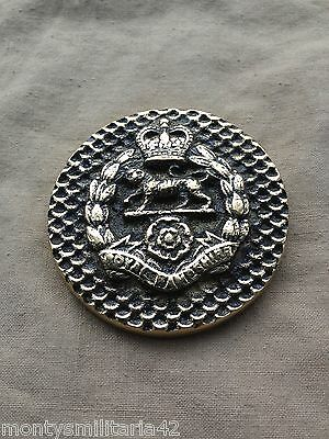 Excellent Vintage British Army Royal Hampshire Regiment Brass Paper Weight
