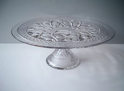 Vintage Imperial Glass Co. CAPE COD Pedestal Cake Stand