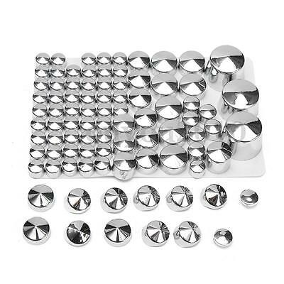 87X Chrome Bolt Toppers Cover Cap For Harley Davidson Softail Twin Cam 84-06