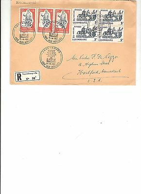 Luxembourg Refugees cover 07.04.1960 to USA