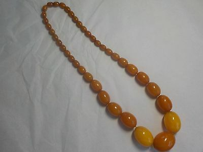 Vintage Butterscotch Bakelite~Lucite Beaded Necklace to Restore