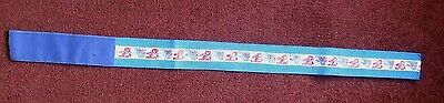 "Blue And Red Teddy Bear Strap With Velcro Fastening.2"" Wide X 31"" Long"