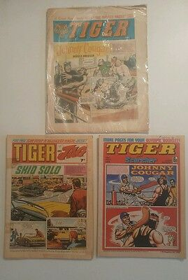 Tiger Comic 1965, Tiger and Jag 1969, Tiger and Scorcher 1976
