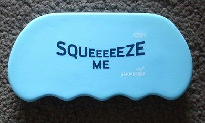 Blue Squeeeeeze Me Squeezable Stress Reliever.fits In Palm And Has Finger Groove