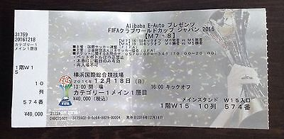 ** CLUB WORLD CUP 2016 USED COLLECTOR TICKETS FINAL Real Madrid Kashima Antlers