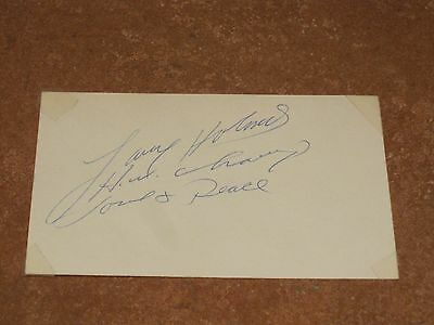 Larry Holmes Autographed Index Card PSA Pre-certified