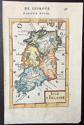 c.1683 antique map of Ireland by Alain Manesson Mallet
