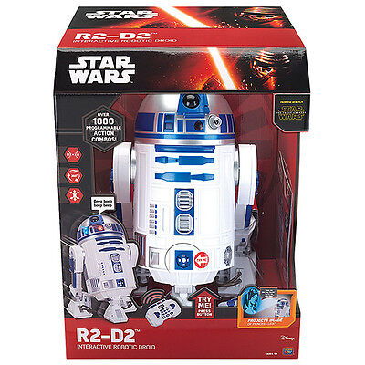 Starwars R2-D2 Interactive Robotic Droid Lights And Sounds Remote Control