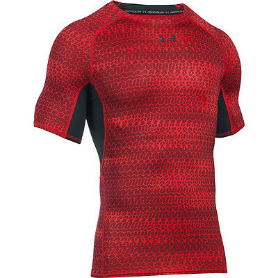 Under Armour Heatgear Compression Printed Short Sleeve Shirt red 1257477-603 HG