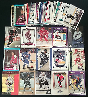 60 x Assorted NHL Ice Hockey Trading Cards 1989 - 2014 Bulk Lot Rookies INSERTS