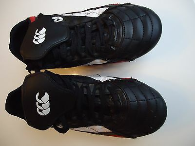 Black/red/white Canterbury Leather Rugby Boots size UK 5