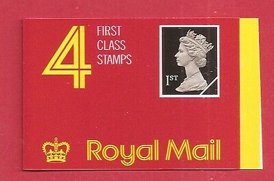 GB Booklet 1989 HB1 Walsall 1st x 4 face £2.56  w8751
