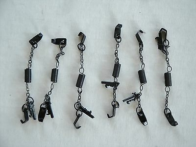 DCP SIX x TW0 =12 SETS OF BLACK CHAINS FOR ONE PRICE 1/64 METAL
