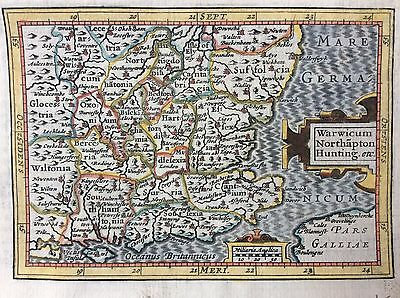 Original 1616 map of south east England published by Petrus Bertius
