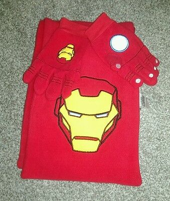 Kids Iron Man Red scarf and gloves set