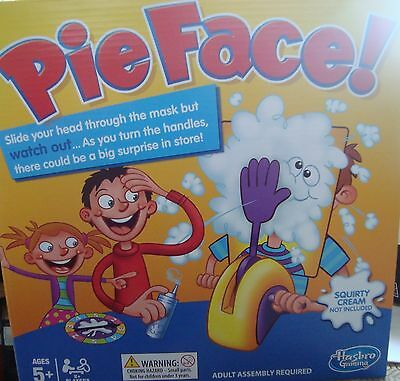Hasbro games Pie face game age 5+, adult supervision required