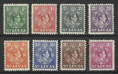 St Lucia Kgv1 1938-48 Low Values Mint Nh