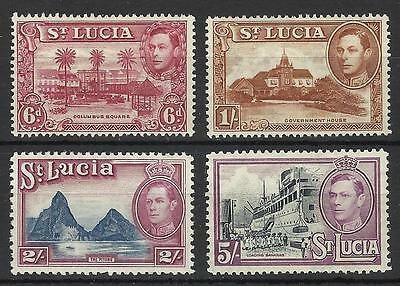 St Lucia Kgv1 1938-48 High Values Mint Nh