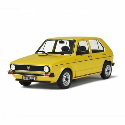 Solido Diecast Model - Yellow Volkswagen Golf Riyad Car - 1:18 Scale - New