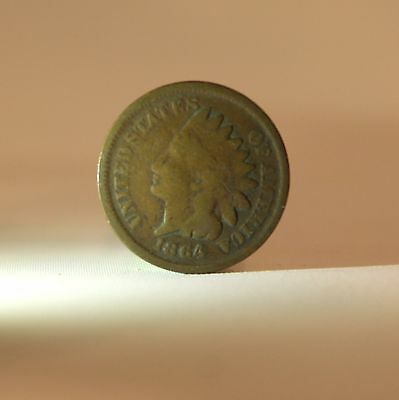 1864 Indian Head Cent Penny 1c G Good Condition Coin Currency Collectible