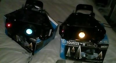 Pair of Chauvet DJ Squeeze 2 DMX 250W Club/Disco lights, Oscillating pulse/spin.