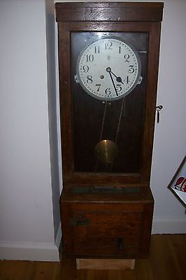 GBT of Halifax factory clocking in/out clock, time recorder, 1940