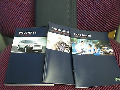 Landrover Discovery 3 Owners Manual Handbook 2005-2009 Navigation Book , Wallet