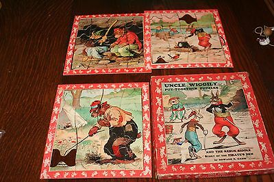 Antique Uncle Wiggily Put Together Puzzles Circa Early 1900's in Box