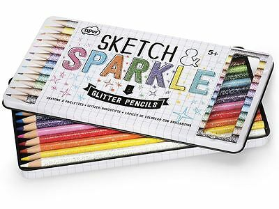 Sketch & Sparkle Pack of 12 Colouring Glitter Pencils