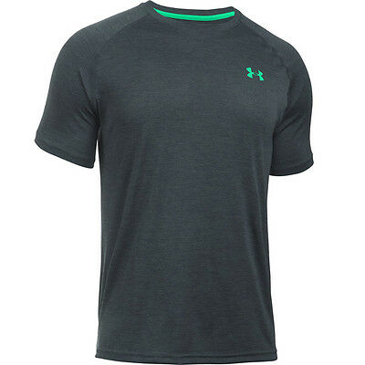 Under Armour Tech Short Sleeve Tee Shirt T-Shirt gray green 1228539-020 Sport
