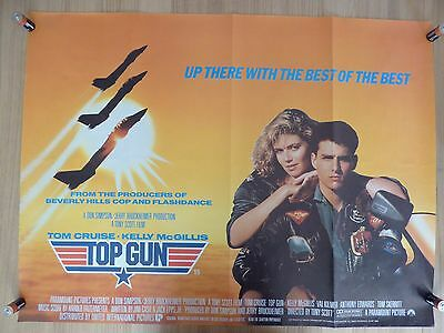 TOP GUN - original UK quad film/movie poster 1986 - Tom Cruise, Kelly McGillis