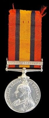 Victorian Queens South Africa Medal Relief Of Ladysmith Clasp Lieut.a.s.fullam