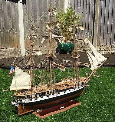 Hand  Built  Model  Of  The  Frigate  ' U.s. Constellation '  Of  1797