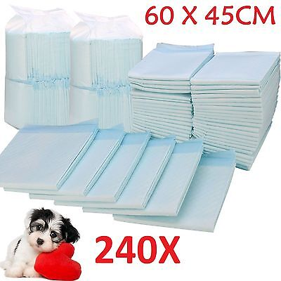 240 X Large House Puppy Dog Cat Pet Potty Training Pads Large Pee Train Pad Mats