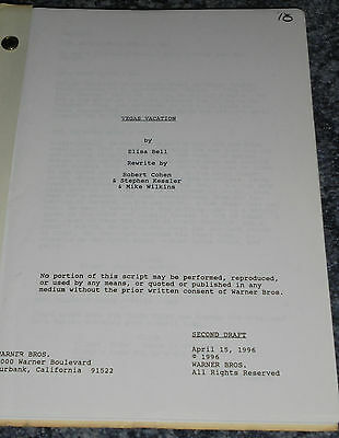 VEGAS VACATION - FILM SCRIPT - Staring Chevy Chase.